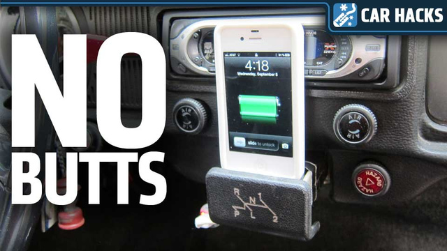 How To Turn Your Car's Ashtray Into A Smartphone Dock