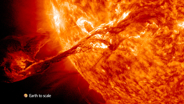 The Most Amazing Solar Eruption Ever Recorded Is Even More Terrifying In Video