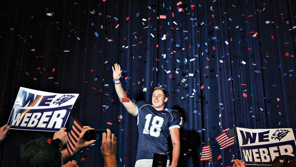 When High School Football Meets The Campaign Trail, The Results Are A Lot More Awesome Than You'd Expect