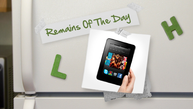 Remains of the Day: Amazon Announces New Kindles, Launches New UI Features