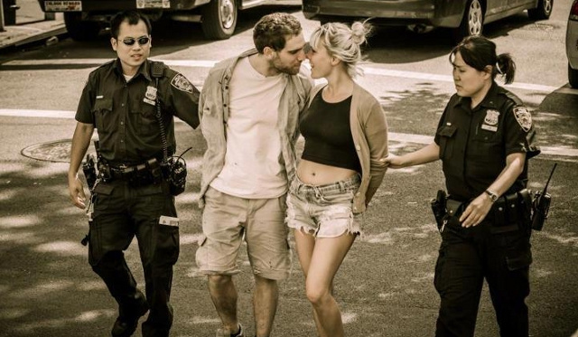 Romantic Criminals Caught in Picture Perfect Moment Outside Manhattan Courthouse