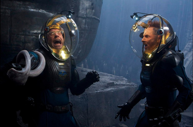 "New behind-the-scenes Prometheus images shine a light on that horrific ""birth"" scene"