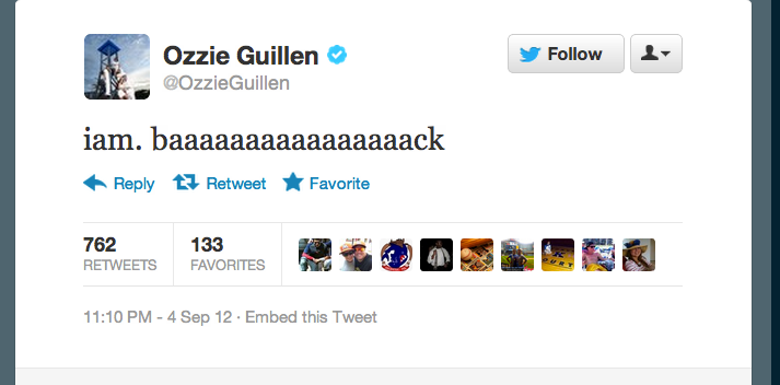 Ozzie Guillen Is Back On Twitter And As Crazy As Ever