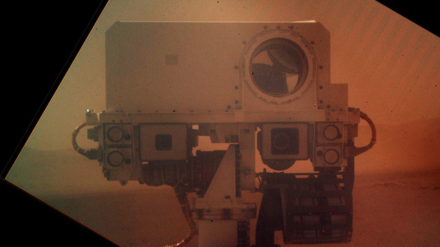 Click here to read Curiosity Sends Home a Self-Shot That's Out of This World