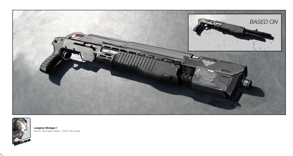 "DREDD 3D Dredd 3d Rifle/Shotgun aka ""Widowmaker"""