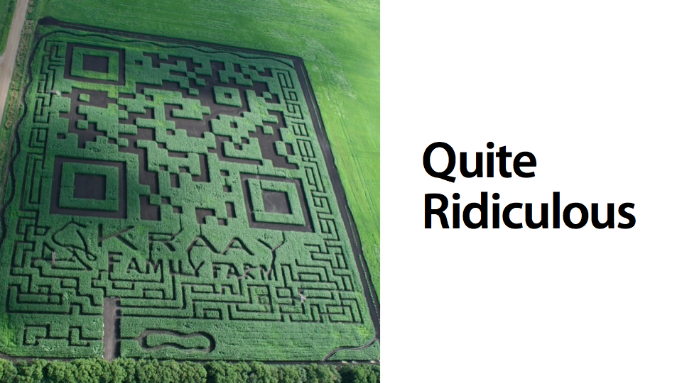 Click here to read World's Largest QR Code Is Stupidly Pointless