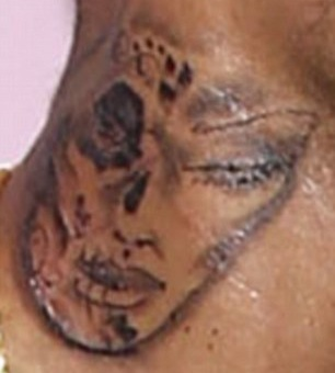 Chris Brown's New Tattoo: Definitely Ugly, Possibly of a Battered Woman (UPDATE)