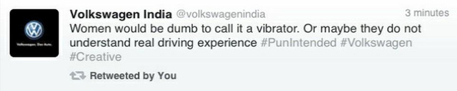 Volkswagen India Puts Vibrators In Newspapers, Tweets That Women Are 'Dumb' Bad Drivers