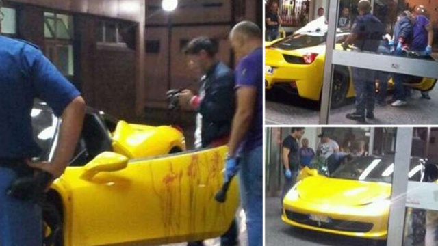 Ferrari Driver Mysteriously Shot In The Balls, Drives Into Emergency Room