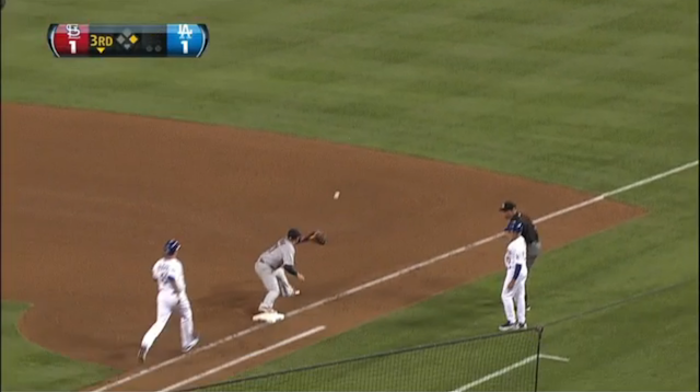 Josh Beckett Got Thrown Out At First By The Right Fielder