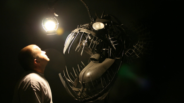 This huge anglerfish sculpture is wicked nightmare fuel