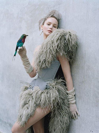 Jennifer Lawrence's W Cover is for the Birds