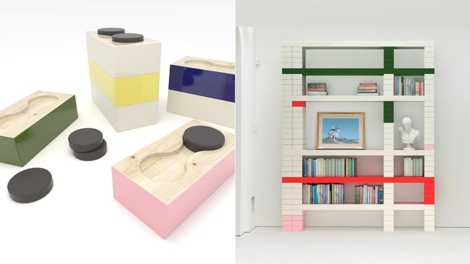 "Click here to read ""Undergraduate"" Shelves Are Sophisticated Storage Inspired by Student Dorms"