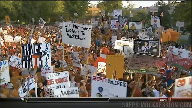 """Will Muschamp Listens To Nickelback"": Your Roundup Of The Best Signs Behind The College Gameday Crew"