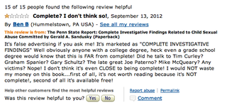 """Horse Crap"": Oddly Enough, The Amazon Reviews For The Freeh Report Are Mostly Pretty Negative"