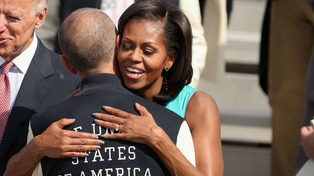 A Hug From FLOTUS Is The Real Gold Medal