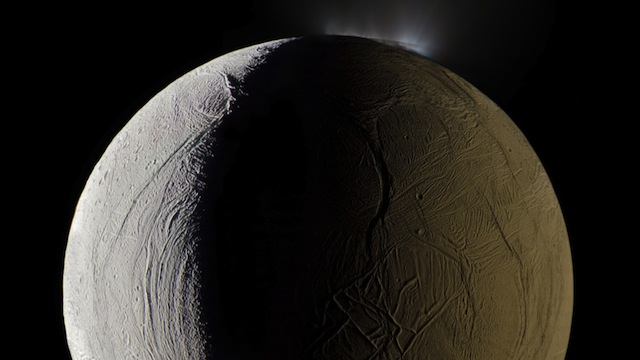 space porn - A geyser sprays water vapor from the surface of Saturn's moon ...