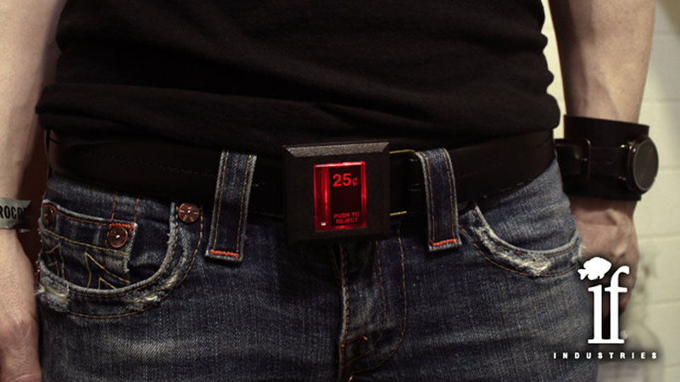 Arcade Coin Slot Belt Would Be Creepy If It Wasn't So Awesome