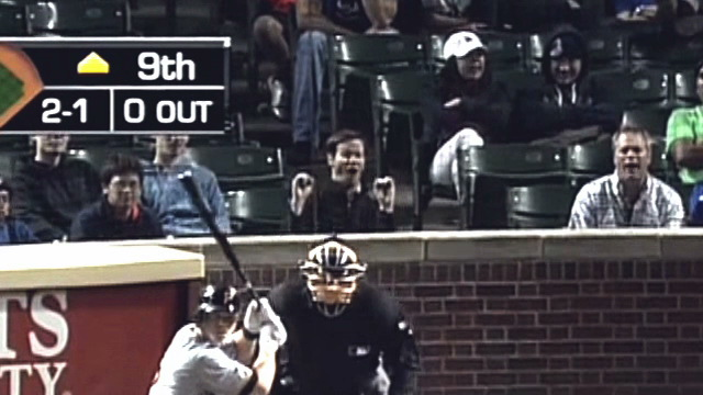 Some Jackass Made Blowjob Pantomimes Behind Home Plate At Wrigl…