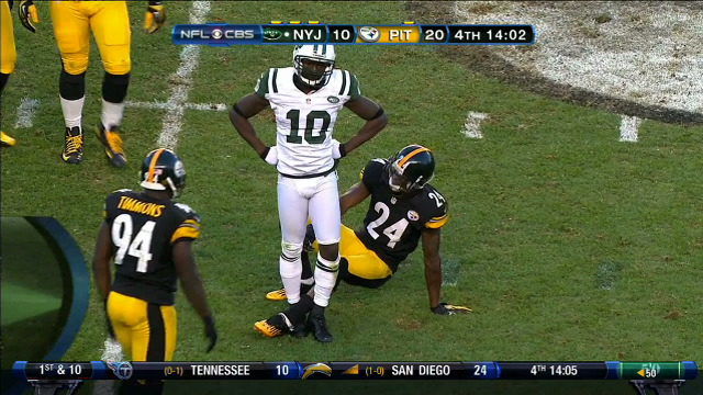 Santonio Holmes Played Call-Your-Own-Fouls On Sunday With The R…