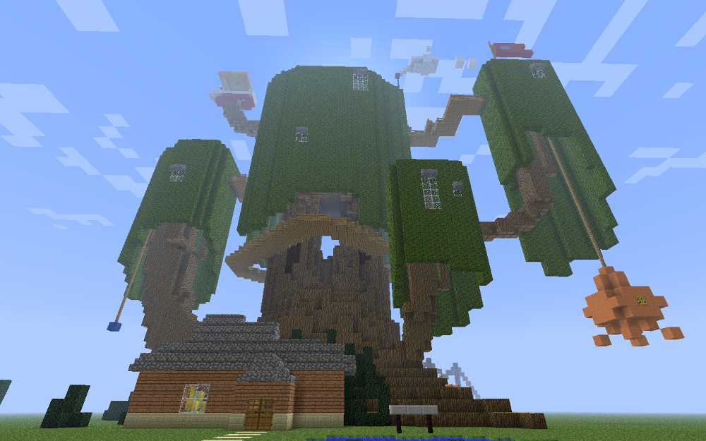Edible candy kingdom of adventure time recreated in minecraft