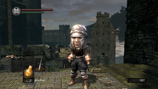 Dark Souls Doesn't Look so Tough in Big Head Mode