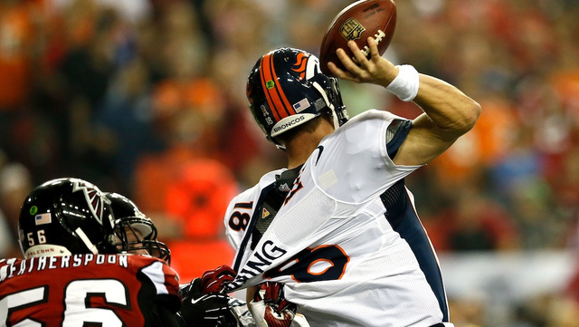 The Broncos Will Sit Peyton Manning When They Need To Throw The Ball A Long Way