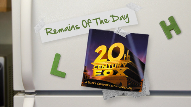 Remains of the Day: 20th Century Fox Movies Coming to YouTube and Google Play