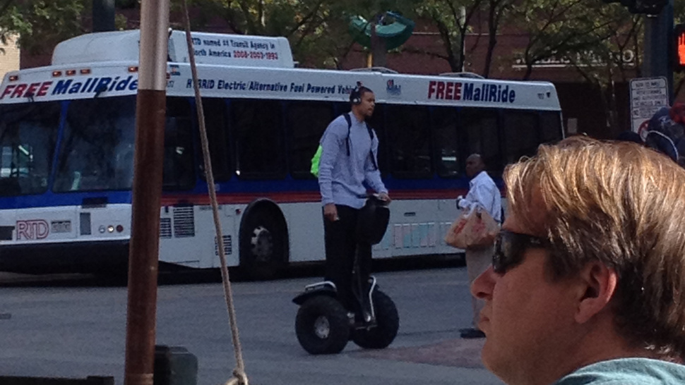 Here's A Picture Of JaVale McGee Riding His Segway