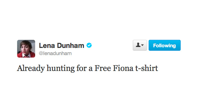 Lena Dunham Is Launching the 'Free Fiona' Protest