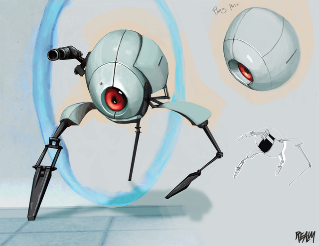 Some Valve Art From Portal & DOTA 2