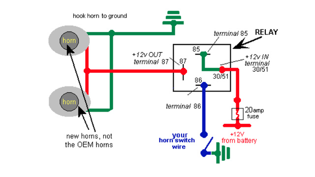 Wiring Diagram Car Relay : How to make your car sound like a freight train