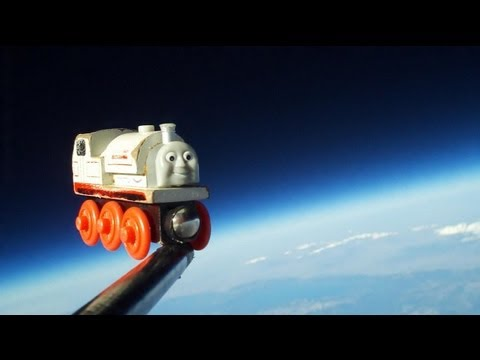 Click here to read Sending Your Son's Favorite Toy Train to Space Is Probably the Coolest Thing a Dad Can Do
