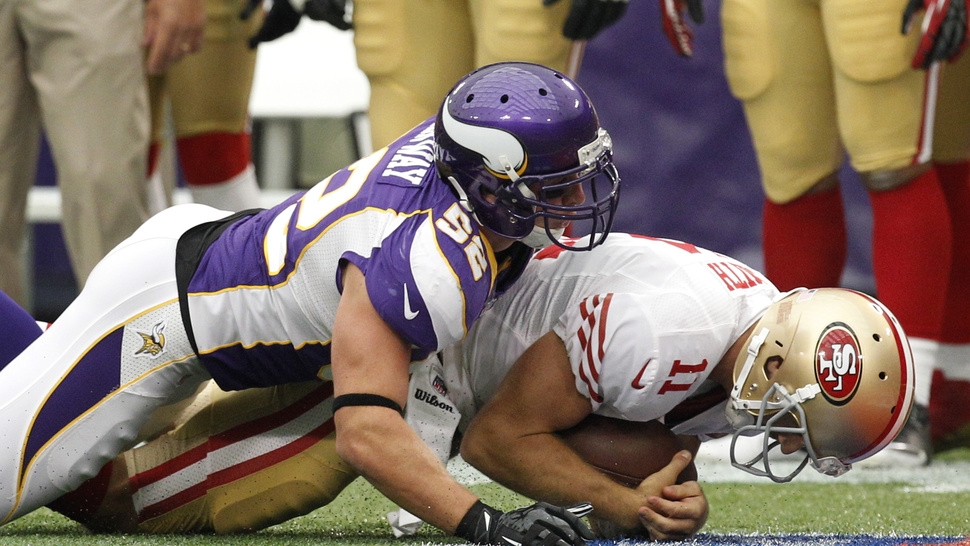 Christian Ponder Played Quarterback Despite The 49ers Best Efforts, In One GIF