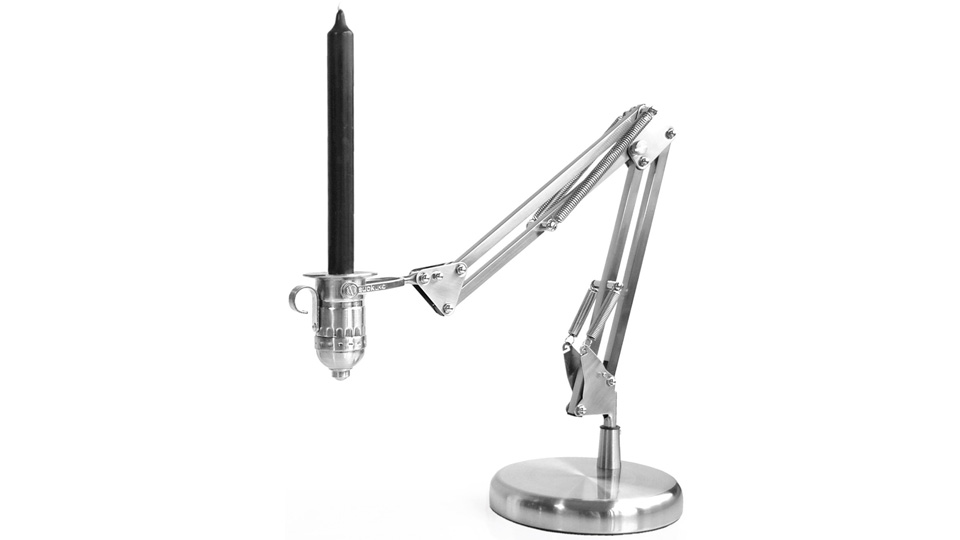Click here to read Is This Articulating Candle Holder the Grandfather of the Famous Pixar Desk Lamp?