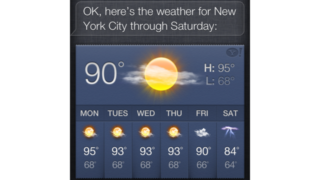 Siri Is Serving Up Wacky Weather Results for Many Locations