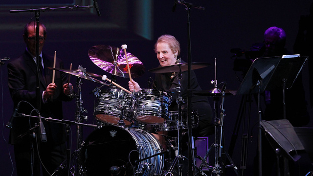 BAMF Madeleine Albright Wows Audience With Her Drum Skills at International Jazz Competition
