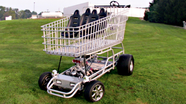Click here to read This 9-Foot-Tall V8-Powered Shopping Cart Is Pointlessly Awesome