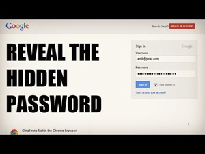 Easily Reveal Hidden Passwords In Any Browser
