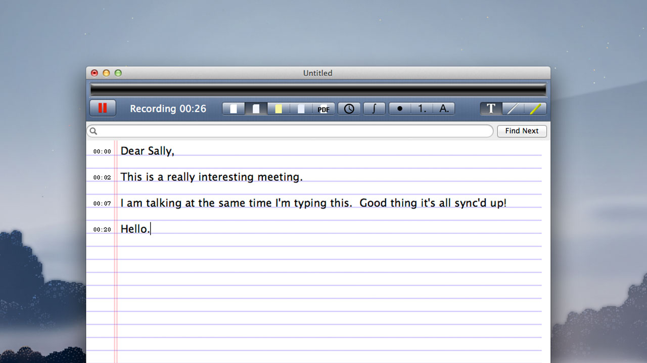 Click here to read AudioNote Syncs Your Typed Notes with Recorded Audio