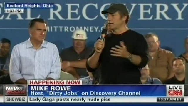 Mike Rowe Takes on Dirty Job of Making Mitt Romney Look Electable