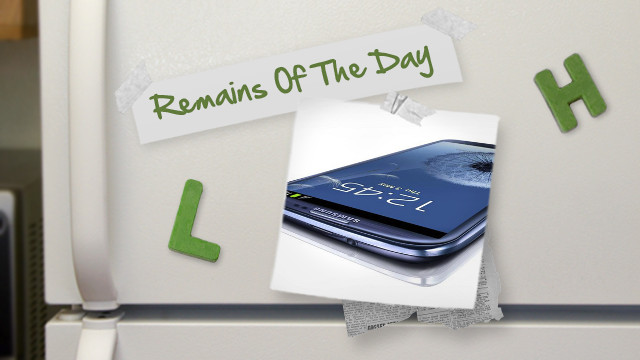 Click here to read Remains of the Day: Samsung Fixes Security Issues on the Galaxy S III