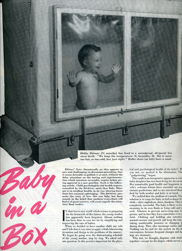 Did B.F. Skinner really put babies into boxes?