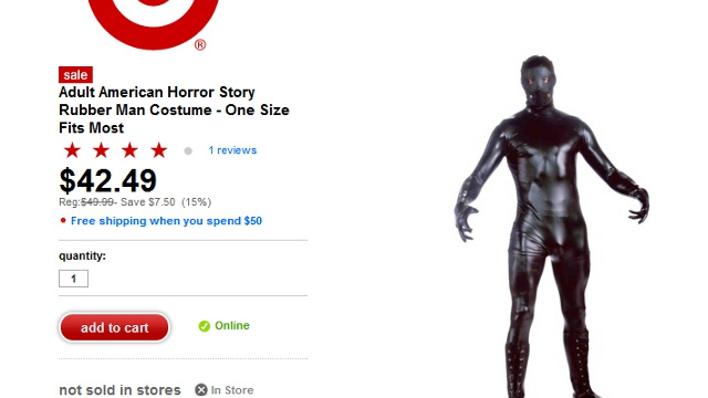 Target Casually Enters the Bondage Suit Business with American Horror Story 'Rubber Man Costume'