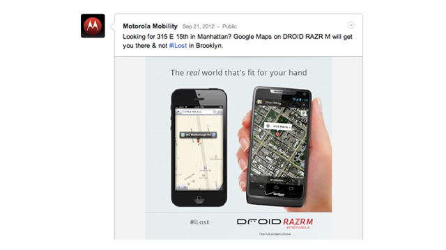 Click here to read Did Motorola Fake an Address to Make Apple Maps Look Even Worse Than It Is?