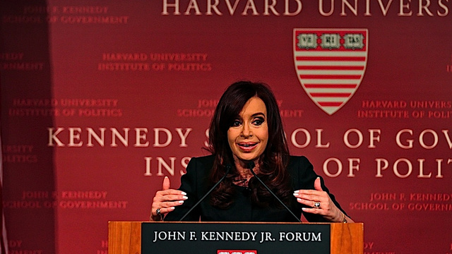 Argentine President Cristina Fernandez Goes to Harvard, Is All 'Harvard, Schmarvard'