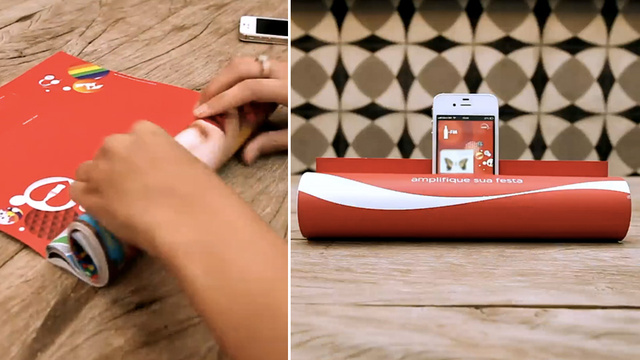 Clever Coke Ad Turns Any Magazine Into a Speaker Dock