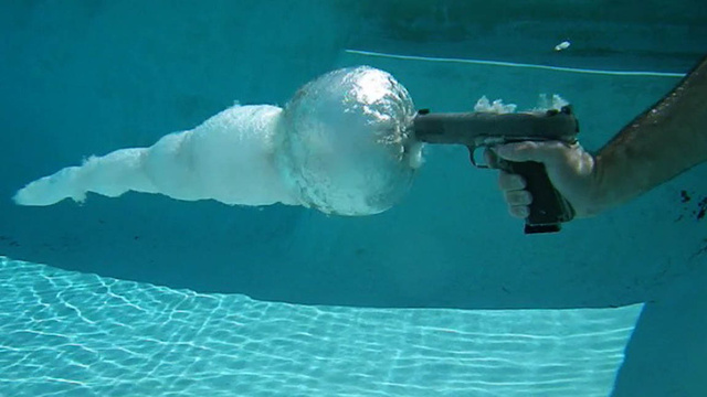 This Is What Shooting a Gun Underwater Looks Like