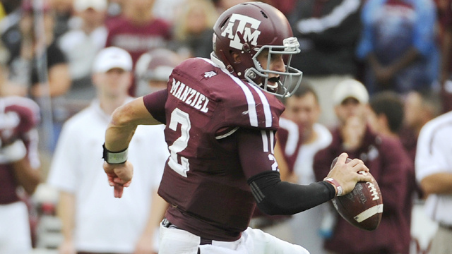 Texas A&M Quarterback Johnny Manziel Set An SEC Record For Offense Today Against Arkansas
