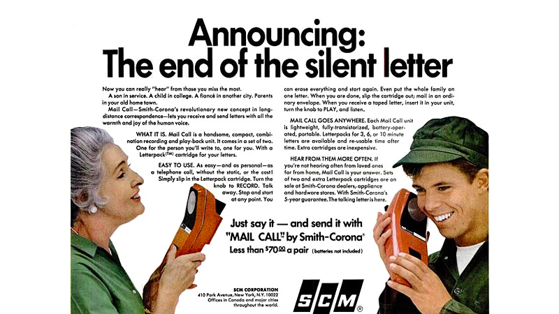 Mailing Recorded Messages Was Once An Actual Alternative To Long Distance Calls